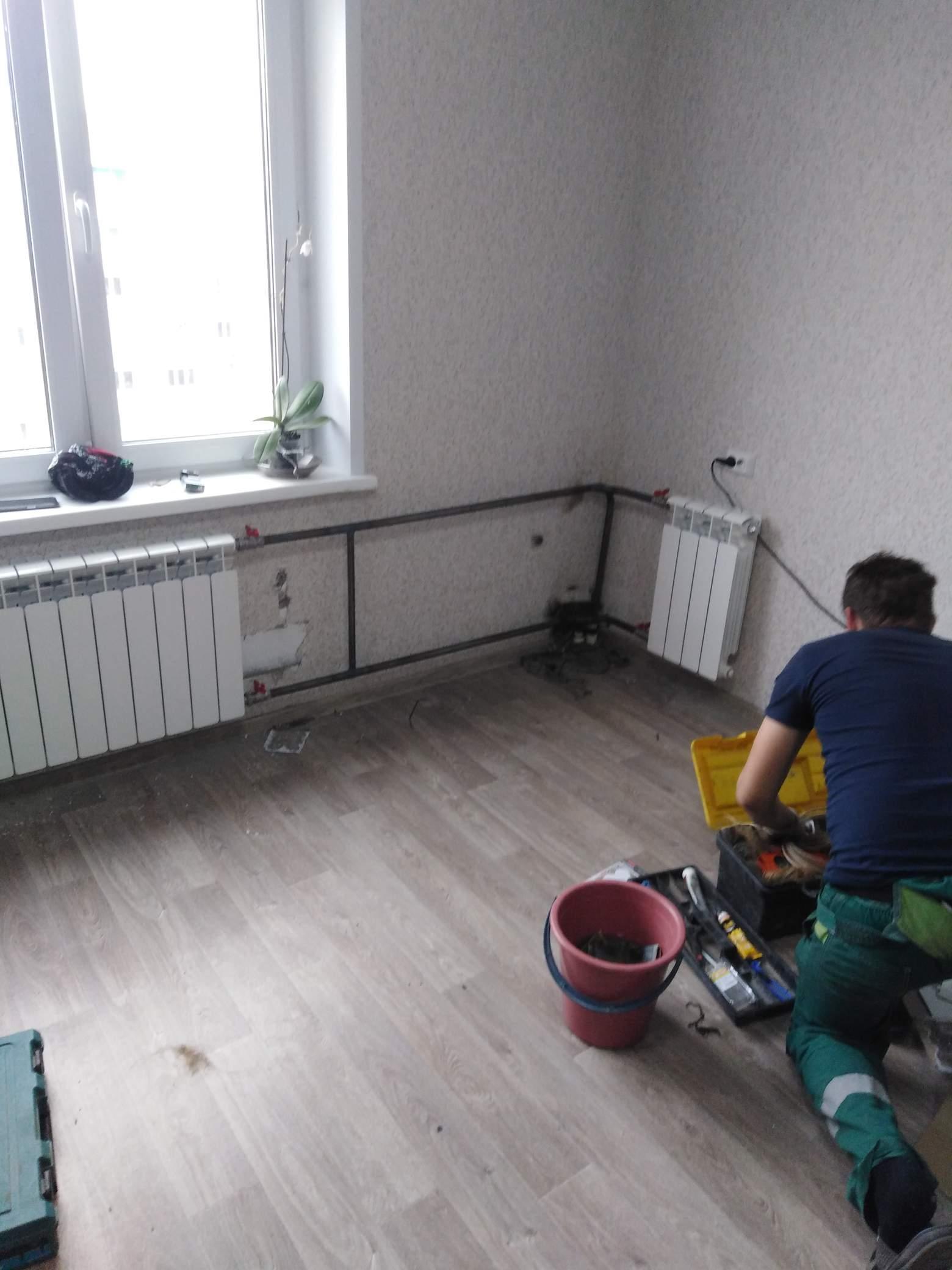 Установка биметаллических радиаторов в квартире #5314