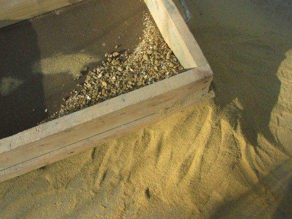 песок просеяный
