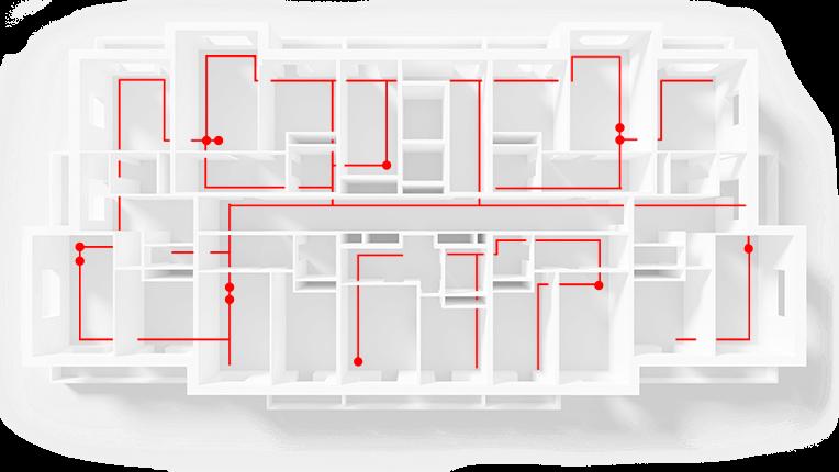 схема пожаротушения офисов