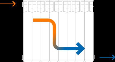 схема подключения батареи